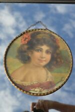 Antique Victorian Large Chromolithograph Flu Cover Made In Germany