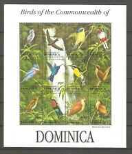 Vögel Kolibri Taube Drossel ua. Dominica 1659/1670 postfrisch