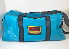 Allens Boots Rodeo Austin TX Turquoise Leather Duffle Bag Carry RARE