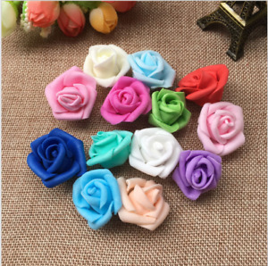 25Pcs - Foam Home Furnishing 7cm Artificial Rose Flower Handmade Wedding Decor