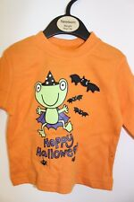 HALLOWEEN - UNISEX Newborn Babie Orange Scary T Shirt Brand New With Tags