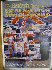 British Grand Prix SILVERSTONE 1997 POSTER ORIGINALE con illustrazioni di Dexter Marrone