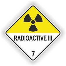 1x Radioactive III Warning Sticker Atomic Nuclear Radiation Biohazard Laptop Car