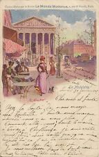 CARTE POSTALE PARIS QUARTIER DE LA MADELEINE ILLUSTRATEUR PAUL MERWART