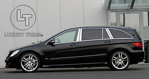 Mercedes R Class W251 Stainless Steel Pillar Posts by Luxury Trims 2006-2013 10p