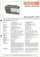 Nordmende Service Manual für Galaxy mesa 9000 .
