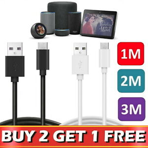 For Amazon TV Stick Echo Plus Dot Kindle USB Sync Charger Charging Power Cable