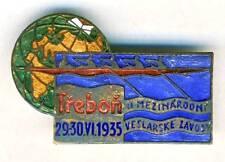 1935 ROWING Trebon INTERNATIONAL REGATTA pin BADGE Enameled Czechoslovakia