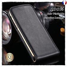 Etui housse coque Clapet Cuir Genuine Leather case Cover Motorola Moto G5S, X4
