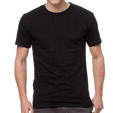 100 X Mens Plain 100% Cotton Blank T-shirt Tee BLACK Bulk Cheap Wholesale tees
