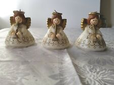 3 Vintage Tavern Candles Gurley Sonoco Angels Playing Trumpets Christmas Decor