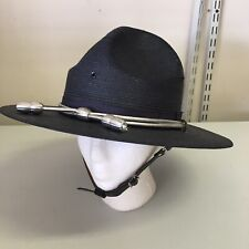 Stratton USA Self Forming State Trooper Straw Campaign Uniform Hat 7 1/8