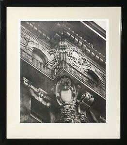 """""""Cornered Cartouch"""" (Framed Art Decorative Black and White Photography City)"""