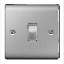 Brushed Steel / Satin Chrome Single Light Switch - 10amp 1 or 2 way