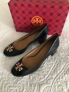 Tory Burch Everly Cap Toe Pump 50 MM Perfect Navy Women Size 9 New In Box