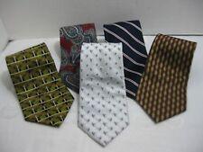 Men's Neckties Calvin Klein Ward JOS Bank Paisley Striped Silk Ties  Lot of 5