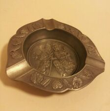 German BMF Zinn pewter tavern ashtray drunk leery man wench mint condition