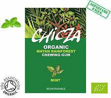 CHICZA ORGANIC RAINFOREST CHEWING GUM!  1X BOX OF WILD MINT (10 packets)
