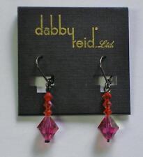 Earrings Swarovski Hematite-plated Rme 74B Dabby Reid Ronnie Mae Fuchsia Orange