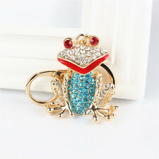 Frog Crystal Charm Pendant Purse Bag Key Ring Chain Friend Wedding Party Gift