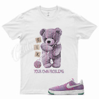 White FIX T Shirt for Nike Air Force 1 One Crater Flyknit Pink Purple