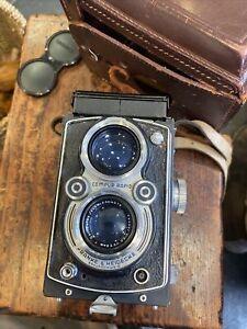 Vintage Rolleiflex Compur-Rapid Film Braunschweig Camera 1:3.5/75mm with Case