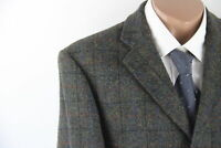 Harris Tweed Sakko Tweed Gr.50 grün/bunt 100% Schurwolle Top Zustand