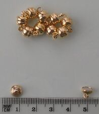 10 gold plated small round magnetic clasps, findings for jewellery making etc