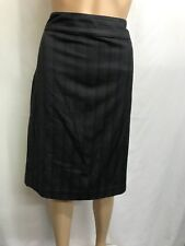BASQUE CITY PETITE SIZE 14 GREY PINSTRIPED PENCIL SKIRT,WORK,EVENT