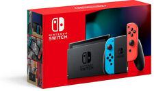 Nintendo Switch Konsole  V2  - grau und neon rot/neon - Blau und Gelb fortnite