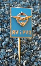YUGOSLAVIA ARMY, RV i PVO AIR FORCE AND AIR DEFENCE, antique military pin !
