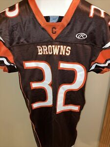 New W/O Tags Rawlings Cleveland Browns Jim Brown Jersey Sz. L Free Shipping