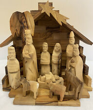 Interesting Unique Traditional Wooden Nativity Scene - See Description (D3)