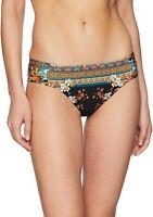 Kenneth Cole New York 188643 Womens Hipster Bikini Swimsuit Black Size Large