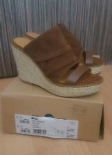 Nine West Suede And Leather Brown Wedges