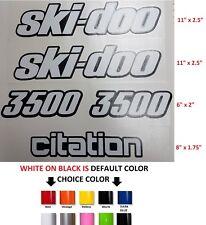 (#668) SKIDOO BOMBARDIER CITATION STICKER DECAL EMBLEM