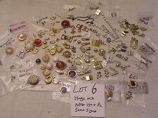 HUGE 150 Vtg Clasp Rhinestone + signed Jewelry Findings Repair Bracelet Necklace