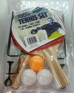 Table Tennis Set - Indoor Activities - Bats, Balls, Net and Brackets - Games