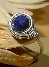 LOVELY LAPIS LAZULI  925 SILVER RING - SIZE Q - 8  All sizes