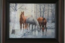 "5D DIY Diamond Embroidery Paint Bling Framed Horse Print 17.5"" x 14.5"""