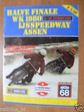 1980 WK IJSSPEEDWAY ASSEN HALVE FINALE 9/10-2- 1980 PROGRAMME POSTER HILTUNEN,KU