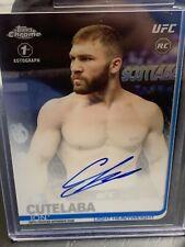 Topps UFC Ion Cutelaba 1st Auto On Card Rookie Chrome