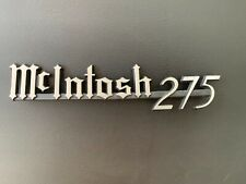 Rare  McIntosh MC275 Chrome Plated Logo - NOS