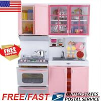 Kitchen Playset Play For Kids Pretend Play Toy Toddler Kitchen Cooking Set US