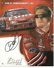 2002 Dale Earnhardt Jr Budweiser NASCAR Racing Signed Auto 8x10 Post Hero Card