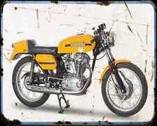 Ducati 350 Desmo 70 A4 Metal Sign Motorbike Vintage Aged