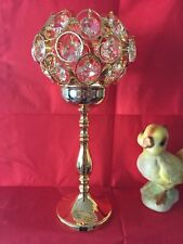 Candle holder, vintage with Swarovsky ®�cut crystal and gold candle holder