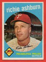 1959 Topps #300 Richie Ashburn EX-EX+ WRINKLE Philadelphia Phillies HOF FREE S/H