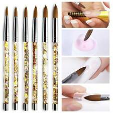 Sable Acrylic Nail Art Hair Brush Liquid Glitter Handle DIY Manicure Tool Supply