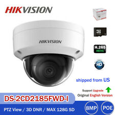 HIKVISION 4K 8MP DS-2CD2185FWD-I 3-Axis IR HD IP Security Camera H.265 TF Slot
